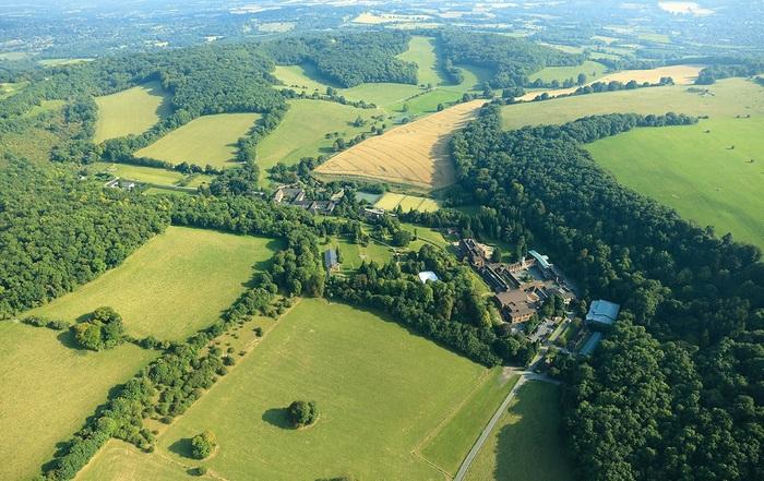 Aerial Marden Park Mansion